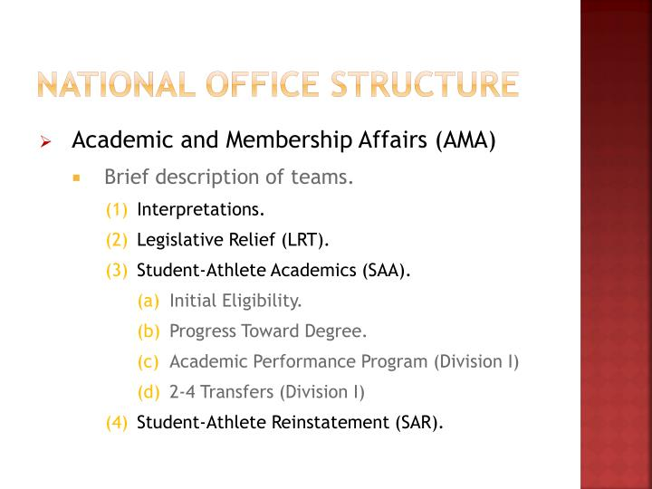 National office structure