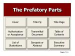 the prefatory parts