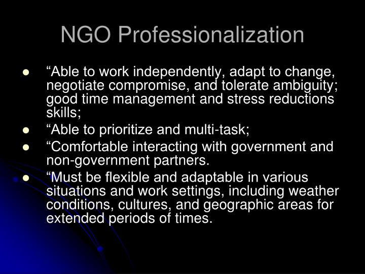 NGO Professionalization