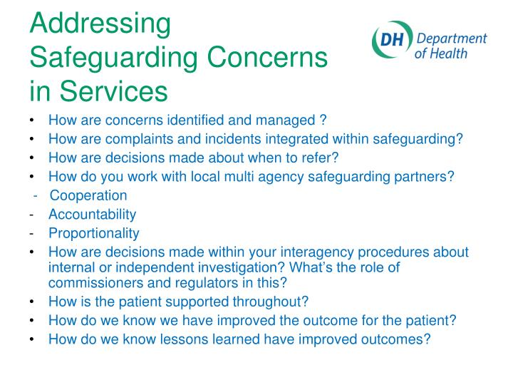 How are concerns identified and managed ?