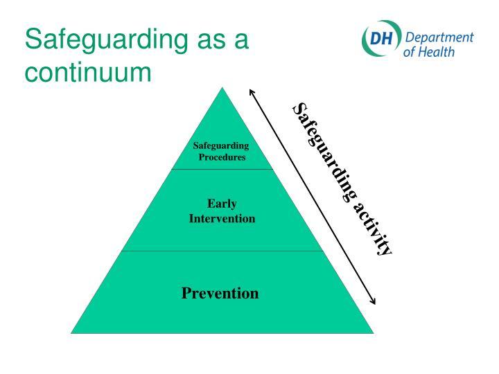 Safeguarding as a continuum