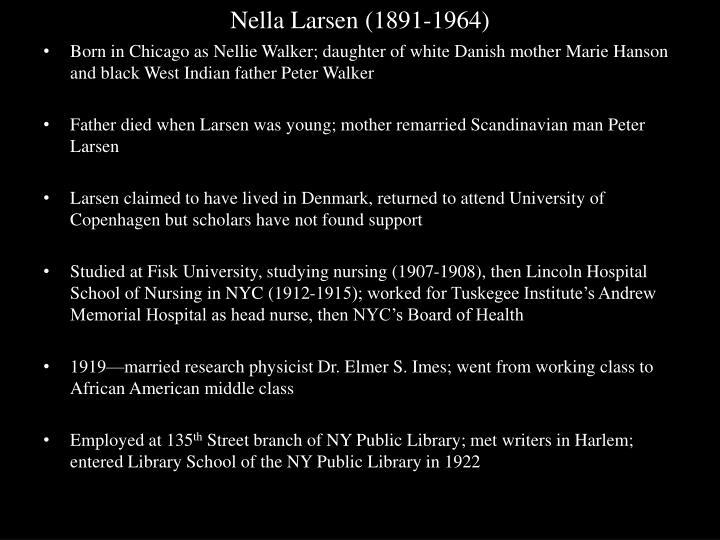 Nella Larsen (1891-1964)