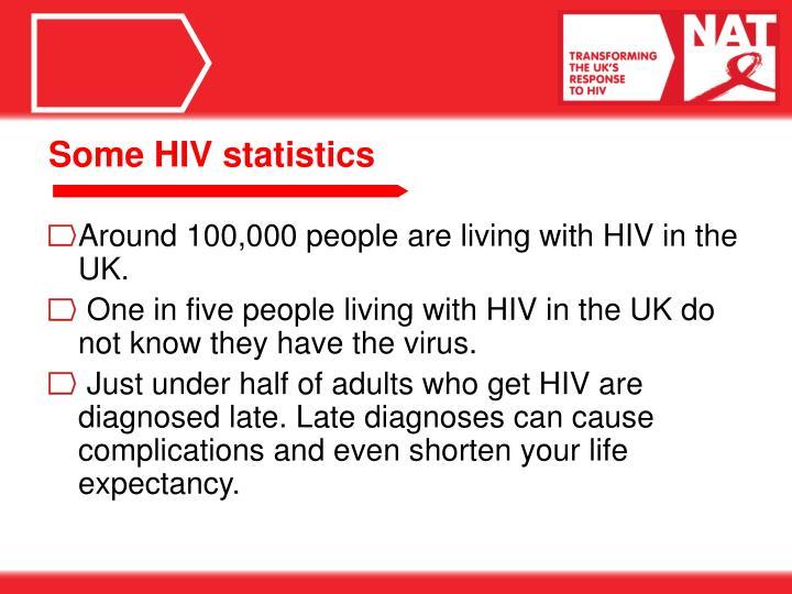 Some HIV statistics