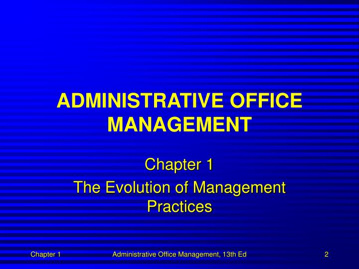 Administrative office management1