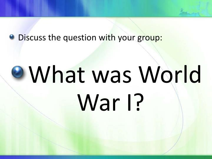 Discuss the question with your group: