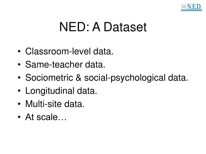 NED: A Dataset