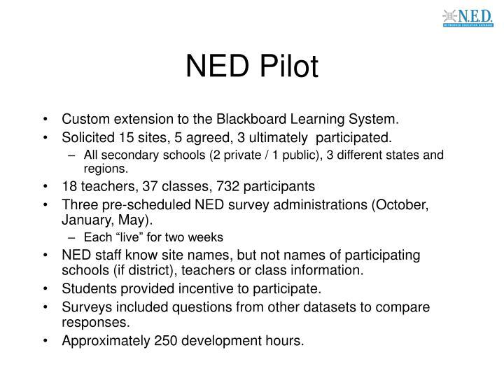 NED Pilot