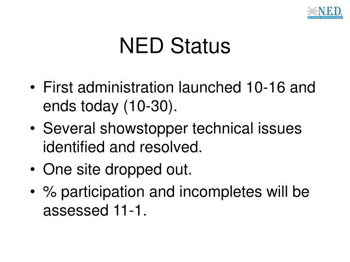 NED Status