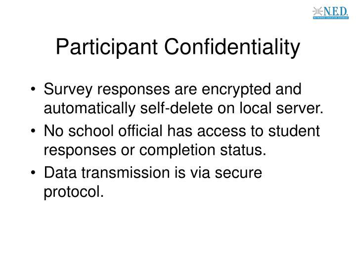 Participant Confidentiality