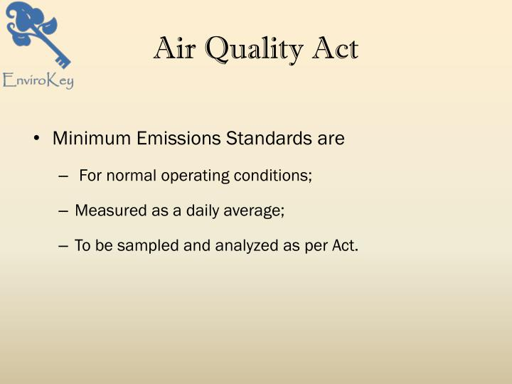 Air Quality Act