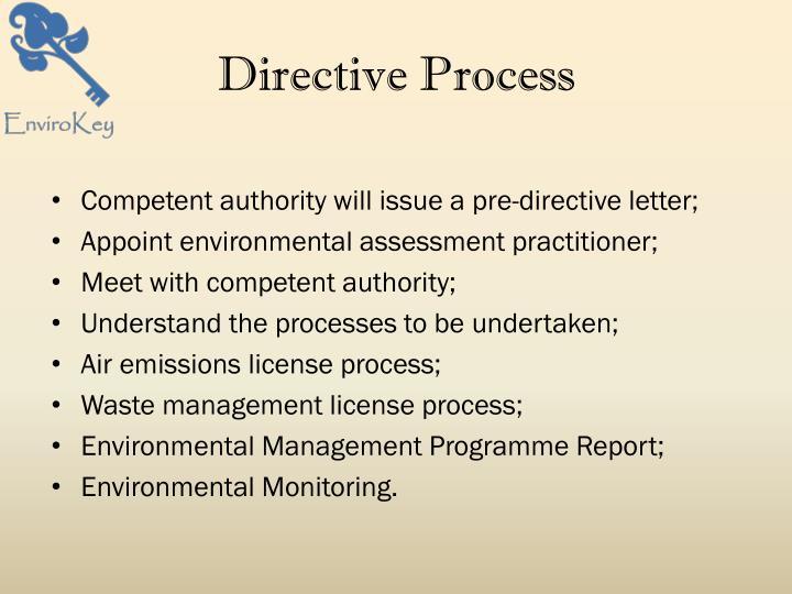 Directive Process
