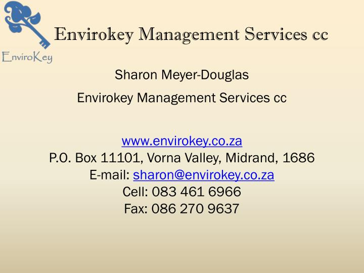 Envirokey Management Services cc