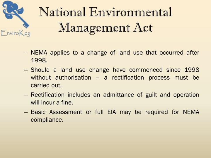 National Environmental Management Act