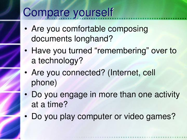 Compare yourself