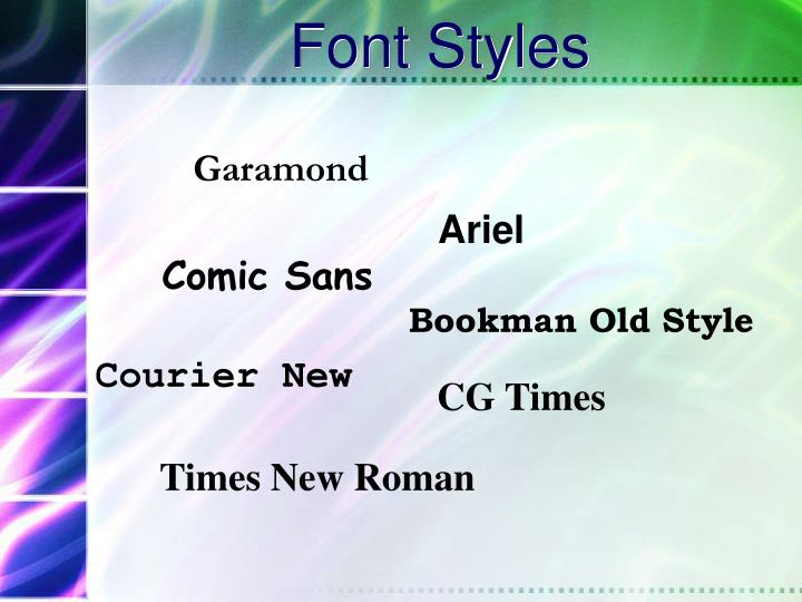 Font Styles