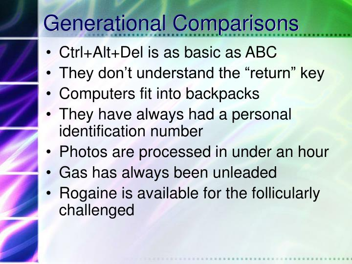 Generational Comparisons