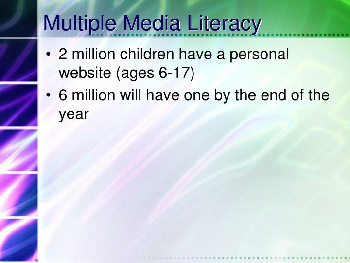 Multiple Media Literacy