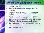 tips for basics of web design