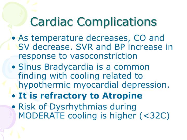 Cardiac Complications