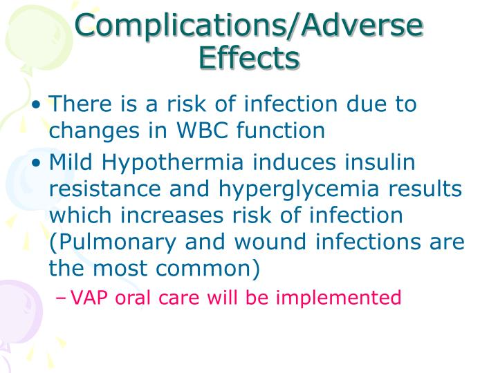 Complications/Adverse Effects