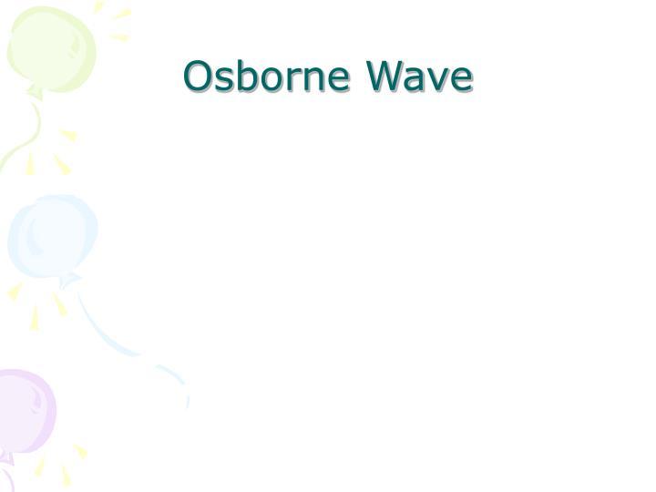 Osborne Wave
