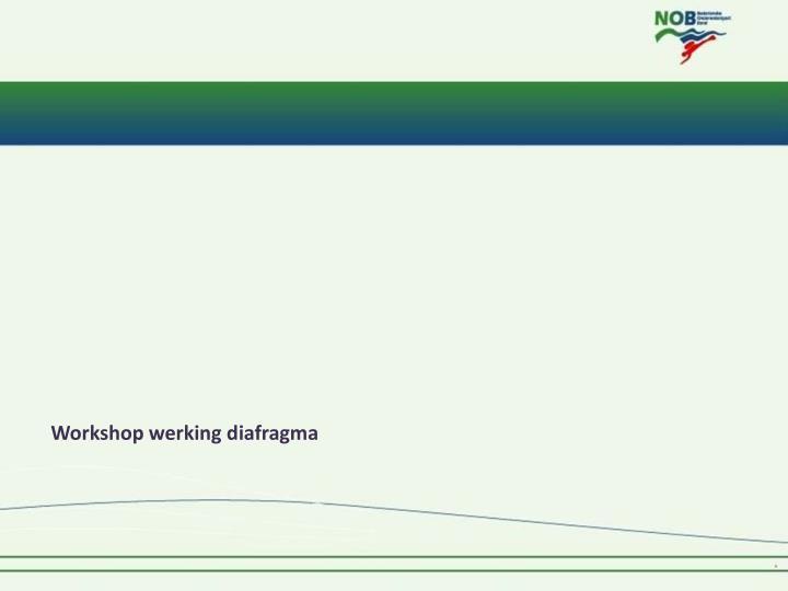 Workshop werking diafragma