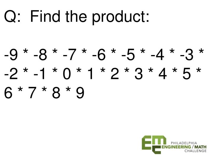 Q:  Find the product: