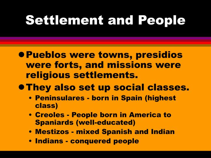 Settlement and People