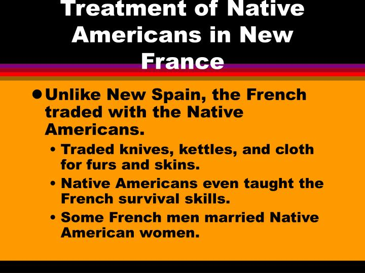 Treatment of Native Americans in New France