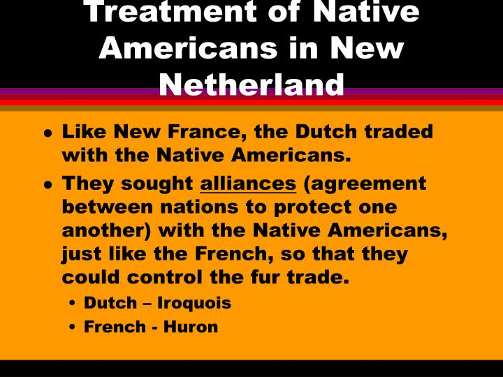 Treatment of Native Americans in New Netherland