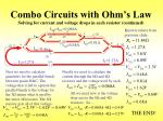 combo circuits with ohm s law solving for current and voltage drops in each resistor continued1