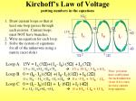 kirchoff s law of voltage putting numbers in the equations