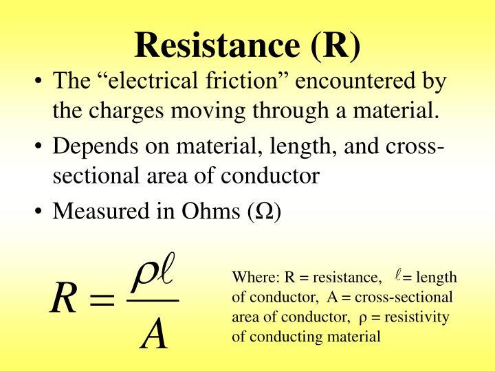 Resistance (R)