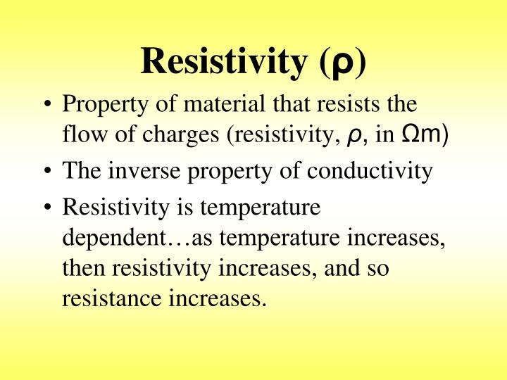 Resistivity (
