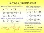 solving a parallel circuit