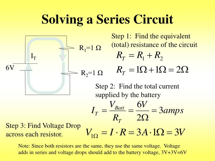 Solving a Series Circuit