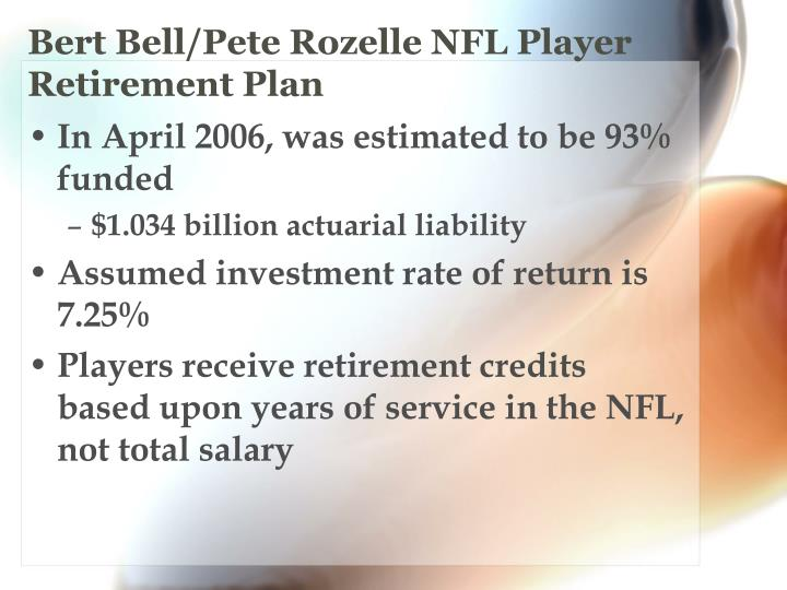 Bert Bell/Pete Rozelle NFL Player Retirement Plan