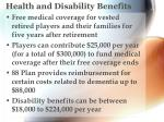 health and disability benefits