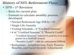 history of nfl retirement plans1