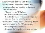 ways to improve the plan