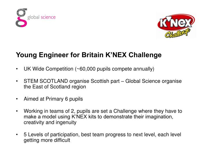 Young Engineer for Britain K'NEX Challenge