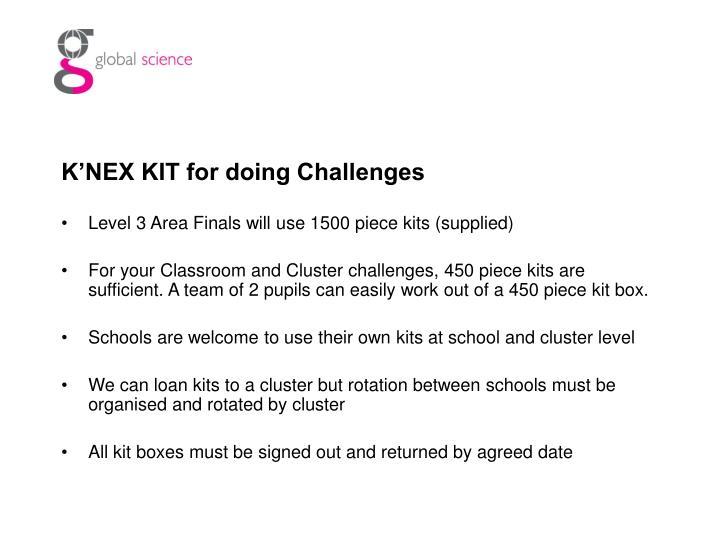 K'NEX KIT for doing Challenges