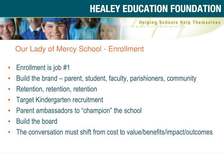 Our Lady of Mercy School - Enrollment