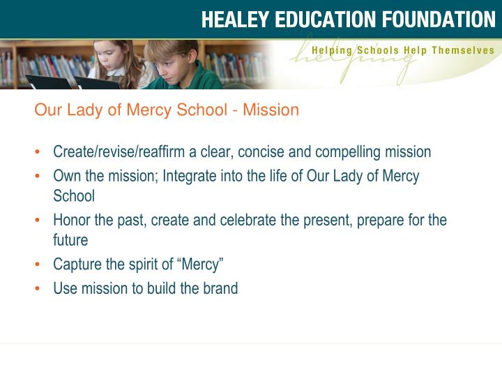 Our Lady of Mercy School - Mission