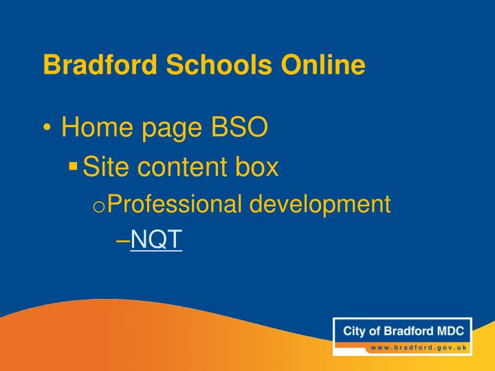 Bradford Schools Online