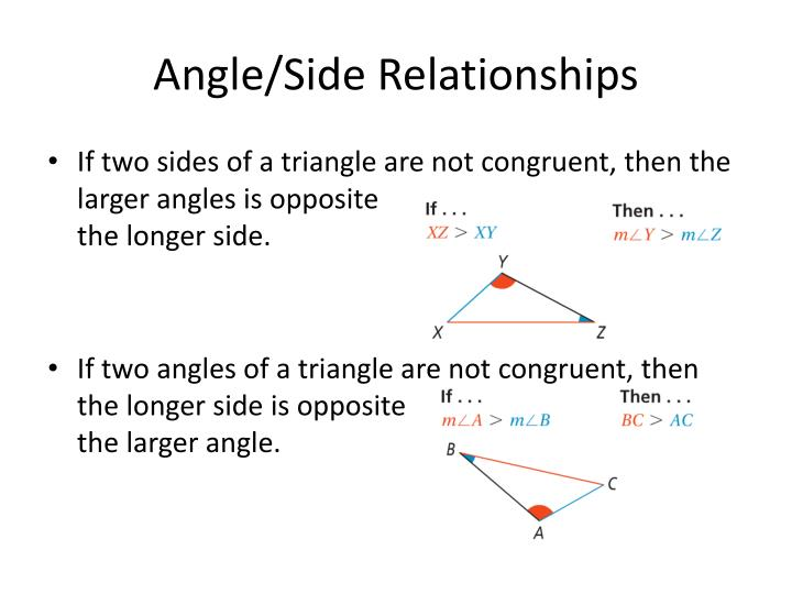 relationship between angles and sides