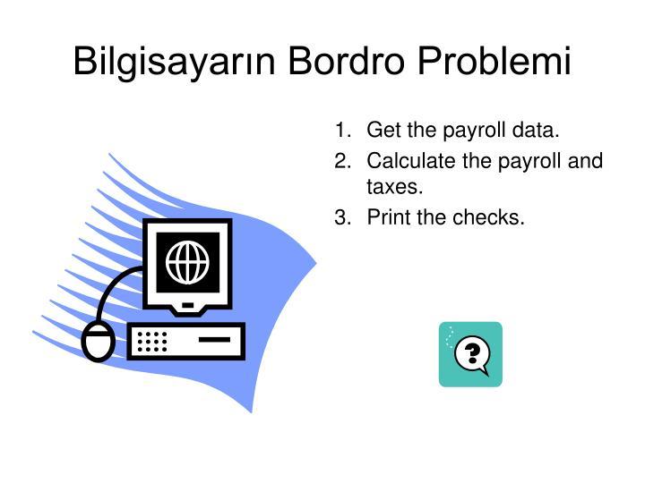 Bilgisayarın Bordro Problemi