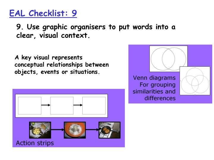EAL Checklist: 9