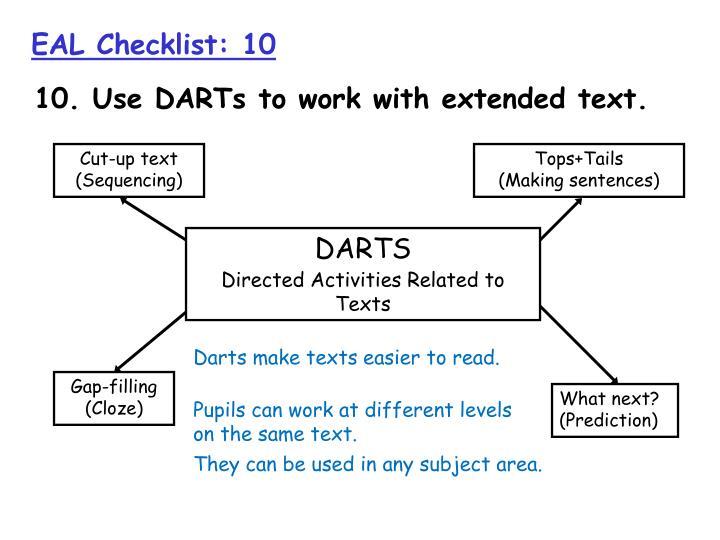 EAL Checklist: 10