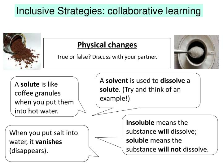 Inclusive Strategies: collaborative learning